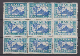 Brazil Brasil Mi# 437 ** MNH Block Of 9 DIA DA CRIANCA 1935 - Brazilië