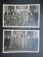 LOT 2 PHOTOS (M1608) GROUPE DE PERSONNES (2 Vues) - Photos