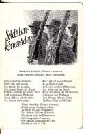 Carte Postale Militaire Allemand  Propagande Guerre 39/45 Krieg Texte Chanson Dessin Tenue Casque Fusil - Guerre 1939-45