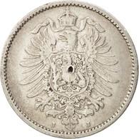 GERMANY - EMPIRE, Wilhelm I, Mark, 1886, TB+, Argent, KM:7 - [ 2] 1871-1918: Deutsches Kaiserreich