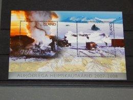 Iceland - 2007 International Polar Year Block MNH__(TH-12878) - Blocks & Sheetlets