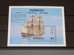 Kiribati - 1990 Maritime History Block MNH__(TH-14973) - Kiribati (1979-...)