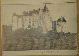 Dessin Au Crayo Dn-Illustrateur -Le Chateau De Luynes Dans L'Indre Et Loire (4) - Dessins