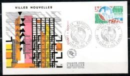 FDC Dept 91 (Essonne) Villes Nouvelles 1975 EVRY – CERGY – L'ISLE D'ABEAU - FDC