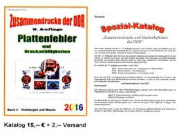 DDR Part 5 Plattenfehler Zusammendrucke PF In KB/ Blocks RICHTER 2016 New 15€ Se-tenants Error Special Catalogue Germany - Libri