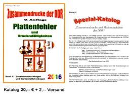 DDR Part 4 Katalog RICHTER 2016 Abarten In Bogen-ZD New 20€ Zusammendrucke Se-tenant Error Special Catalogue GDR Germany - Matériel