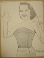 Dessin Au Crayo Dn-Illustrateur -Terry Moore Est Une Actrice Américaine Née Le 7 Janvier 1929 à Los Angeles (4) - Dessins