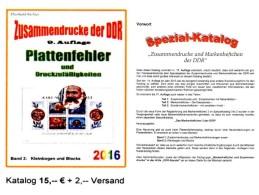 DDR Part 5 Plattenfehler RICHTER 2016 PF In KB/ Blocks New 15€ Zusammendrucke Se-tenants Error Special Catalogue Germany - Matériel