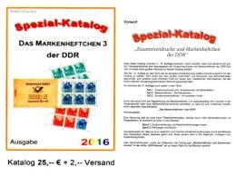 RICHTER Markenheft 2016 Nur MH 3 DDR Part 6 Katalog New 25€ Booklet # 3 Carnet+se-tenant Error Special Catalogue Germany - Matériel