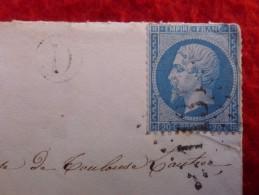 LETTRE TIMBRE NAPOLEON VARIETE OEIL OMBRE CACHET GC DE FACTEUR CORDES - 1849-1876: Classic Period