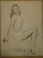 Dessin Au Crayon-Illustrateur -Mary Castle Actrice Naissance : 22 Janvier 1931, Pampa, Texas, États-Unis(4) - Dessins