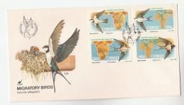 1984 CISKEI FDC Stamps  MIGRATORY BIRDS Cover Bird Swallow - Swallows