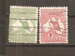 Australia. Nº Yvert  1-2 (usado) (o) - 1913-36 George V : Heads