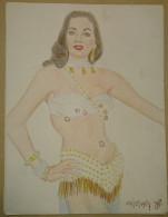 Dessin Au Crayon-Illustrateur -jeune Femme En Maillot De Bain (4) - Drawings