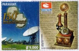 ESTAMPILLA STAMP PARAGUAY CONATEL TELEFONO CANDELERO - CARTA ESCRITA EN GUARANI AÑO 1779 - Paraguay