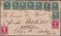 1917-H-267 CUBA REPUBLICA. 1917. 1-2c PATRIOTAS. IMPERF. 1927. SOBRE CERTIFICADO CIEGO DE AVILA A LA HABANA. - Cuba