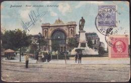 1917-H-268 CUBA REPUBLICA. 1917. RARE FORWARDED POSTCARD 1932 HUNGARY- CUBA - BRAZIL - Lettres & Documents