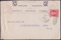 1917-H-270 CUBA REPUBLICA. 1917. 2c PATRIOTAS. 1922. SOBRE ILUSTRADO SANTA CLARA A US. - Lettres & Documents