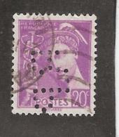 Perforé/perfin/lochung France No 410 R.P  Rhone Poulenc - France