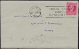 """1917-H-292 CUBA REPUBLICA. 1917. 2c 1928. SOBRE MARCA """"COMPRE AZUCAR CUBANO. BUY CUBAN SUGAR"""" FIRT YEAR OF USE. - Cuba"""
