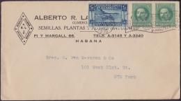"""1917-H-296 CUBA REPUBLICA. 1917. 1c MARTI. 1930. SOBRE COMERCIAL MARCA """"UTILIZANDO EL CORREO AEREO..."""". - Lettres & Documents"""