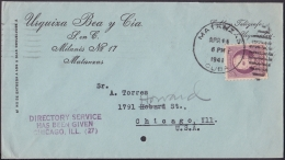 1917-H-297 CUBA REPUBLICA. 1917. 3c PATRIOTAS. 1941. SOBRE COMERCIAL MATANZAS TO US. - Cuba