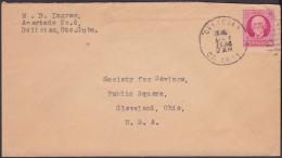 1917-H-298 CUBA REPUBLICA. 1917. 2c PATRIOTAS. 1934. SOBRE MARCA DELICIAS, ORIENTE. - Lettres & Documents