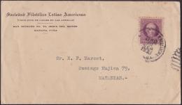 1917-H-302 CUBA REPUBLICA. 1917. 3c PATRIOTAS. 1931. SOBRE SOCIEDAD FILATELICA LATINO AMERICANA. - Lettres & Documents