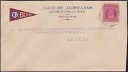 1917-H-304 CUBA REPUBLICA. 1917. 2c PATRIOTAS. 193?. SOBRE CLUB ALISTADOS GUARDIA RURAL. UNION DE REYES, MATANZAS. - Cuba