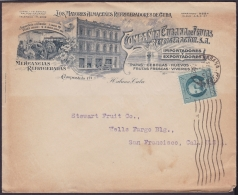 1917-H-306 CUBA REPUBLICA. 1917. 1c PATRIOTAS. 1925. SOBRE  ILUSTRADO FRUIT CO. HABANA A US. - Cuba