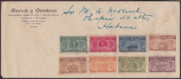 1928-H-41 CUBA REPUBLICA. 1928. 1-30c SEXTA CONFERENCIA. SOBRE USADO EN LA HABANA. - Lettres & Documents