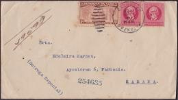 1928-H-54 CUBA REPUBLICA. 1928. 8c SEXTA CONFERENCIA. SOBRE ENTREGA ESPECIAL. SPECIAL DELIVERY MATANZAS. - Lettres & Documents