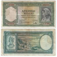 Grecia - Greece 1.000 Dracmas 1-1-1939 Pk 110 A Ref 924-4 - Grecia