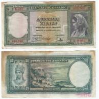Grecia - Greece 1.000 Dracmas 1939 Pick 110.a Ref 538 - Grecia