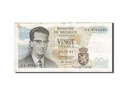 Belgique, 20 Francs, 1964-1966, KM:138, 1964-06-15, TB+ - [ 2] 1831-... : Royaume De Belgique