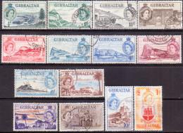 GIBRALTAR 1953 SG #145-58 Compl.set Used CV £120 - Gibraltar