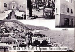 CARTOLINA    SPOTORNO - SOGGIORNO ROSENGARTEN     VIAGGIATA 195? - Italia