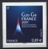 N° 598 Adhésif 2011 , G20-G8 Valeur Faciale 0,89 € Issu D´une Feuille - France