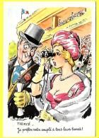"""CPSM Illustration - Paul Ordner """" TIERCE - Pin UP Beau Sein Je Préfère Votre Couplé à Tous Tiercé """" ( Prix Net ) - Ordner, P."""