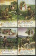 Bamforth & Co Songs Series Set - Music - Eileen Alannah - Set Of 4 -  Postally Used - W3 - Oorlog 1914-18