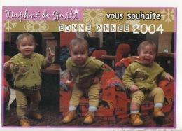 ENFANT . DAPHNÉ DE GUILI VOUS SOUHAITE BONNE ANNÉE 20004 - Réf. N°15004 - - Portraits
