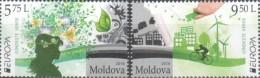MD 2016-948-9 EUROPA CEPT, MOLDAVIA, 1 X 2v, MNH - Moldawien (Moldau)