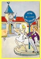 """CPSM Illustration - Mat - HUMOUR """" Couple MARIAGE - Code De La Route Sens Obligatoire """" ( Prix Net ) - Couples"""