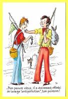 """CPSM Illustrateur  """" C F """" - HUMOUR - Pêche - Mon Peauvre Vieux Il A Drolement Rétréci Ton POISSON  !!! ( Prix Net ) - Pesca"""