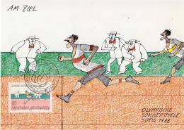 Liechtenstein Olympic Games Set On 4 Maximum Cards - Zomer 1988: Seoel