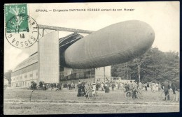 Cpa  Du 88  Epinal -- Dirigeable Capitaine Ferber Sortant De Son Hangar    LIOB70 - Zeppeline