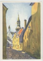 GOOD ESTONIA Postcard 1968 - Tallinn - Linnuse Street - Estonia