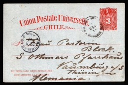 A3971) Chile Postcard From 14.02.1897 To Germany - Chile