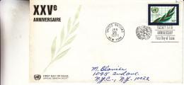 Nations Unies - ONU - Lettre De 1970 - 25 Ième Anniversaire - Lettres & Documents