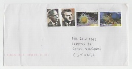 GOOD GREECE Postal Cover To ESTONIA 2016 - Good Stamped: Sea Life ; Persons - Greece